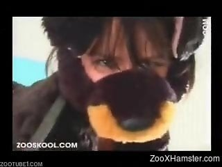Female wore dog suit to lure animal into sex with her