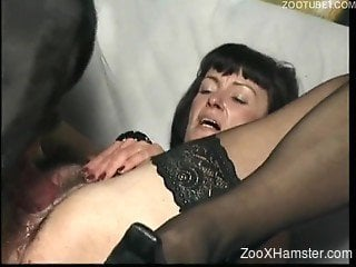 Mature slutty bitch loves sex with dog more than anyone