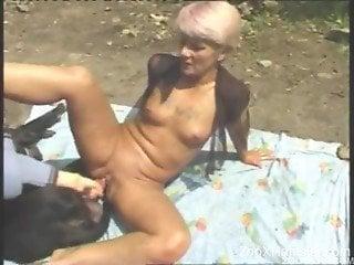 Matrues sharing dog dick in otudoor zoo scenes