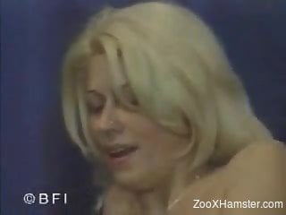 Rough animal porn scenes at home with a tight blonde