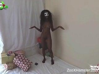 Dog fuck Ebony girl