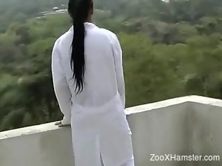 Marvelous bestiality fuck scene with a stallion
